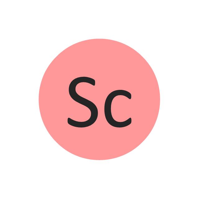 Chemical elements vector stencils library design elements scandium sc scandium sc urtaz Images