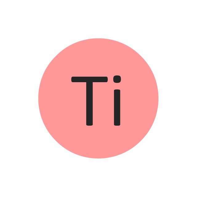 Titanium (Ti), titanium, Ti,