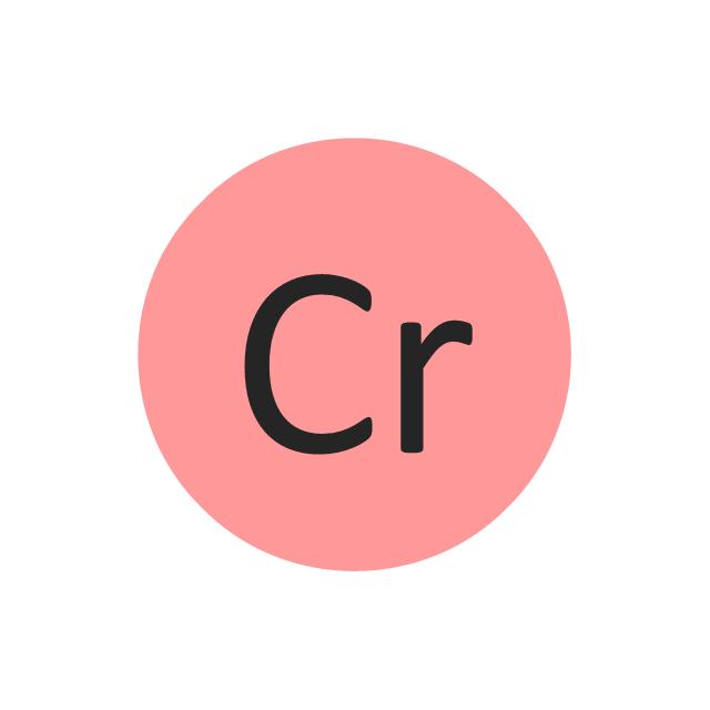 Chromium (Cr), chromium, Cr,