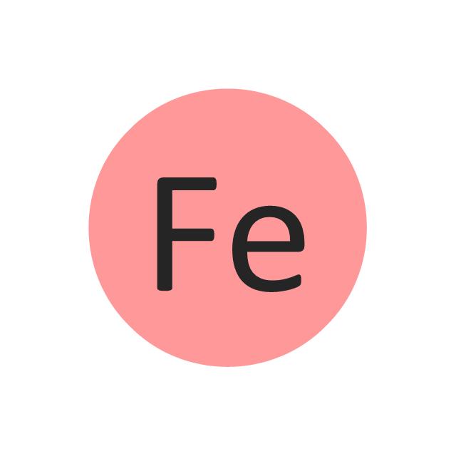 Iron (Fe), iron, Fe,