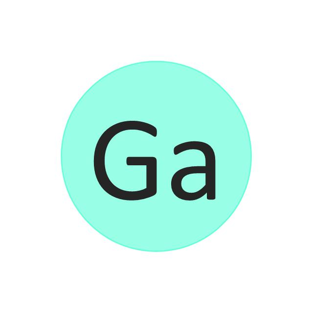 Gallium (Ga), gallium, Ga,