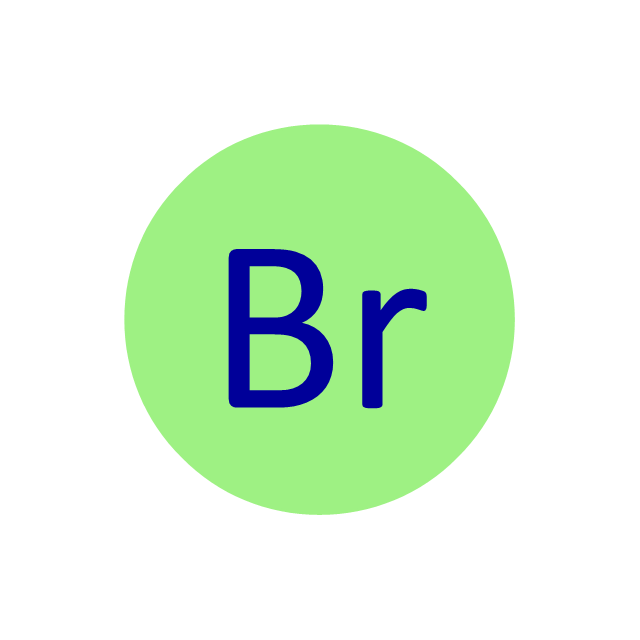 Bromine (Br), bromine, Br,