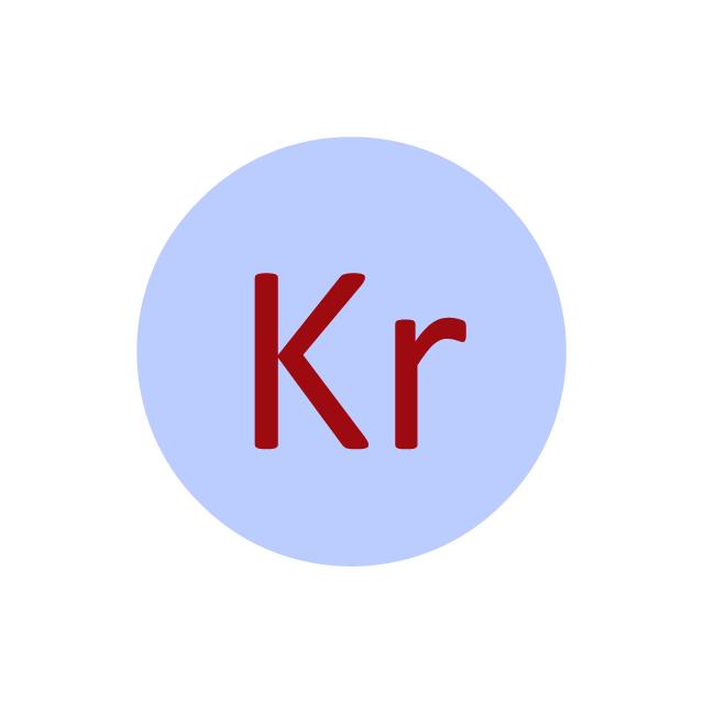 Krypton (Kr), krypton, Kr,