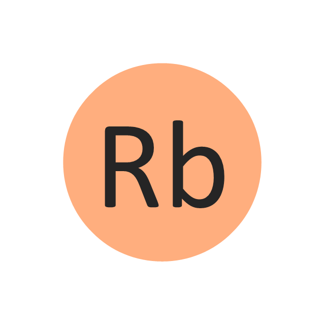 Rubidium (Rb), rubidium, Rb,