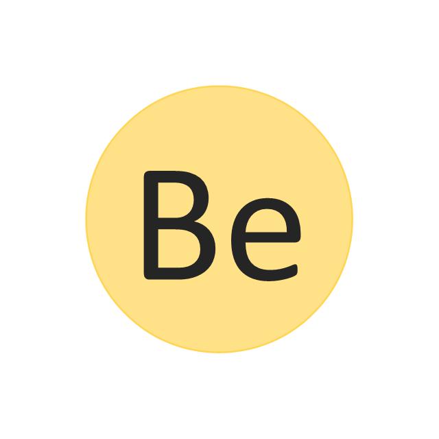 Berylium (Be), berylium, Be,