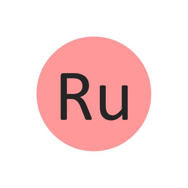 Ruthenium (Ru), ruthenium, Ru,