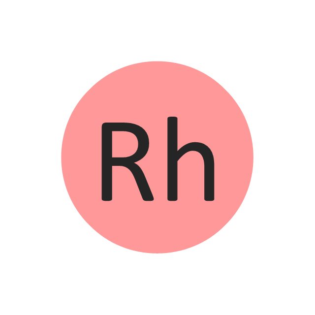 Rhodium (Rh), rhodium, Rh,