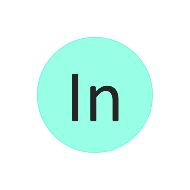 Indium (In), indium, In,