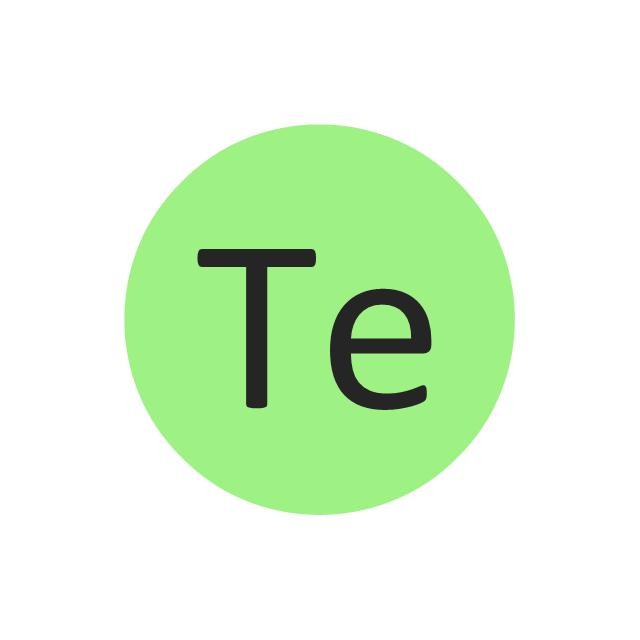Tellurium (Te), tellurium, Te,