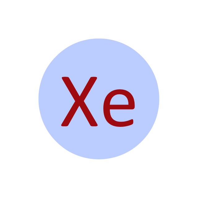 Xenon (Xe), xenon, Xe,