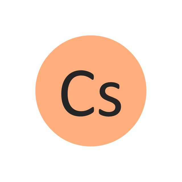 Caesium (Cs), caesium, Cs,
