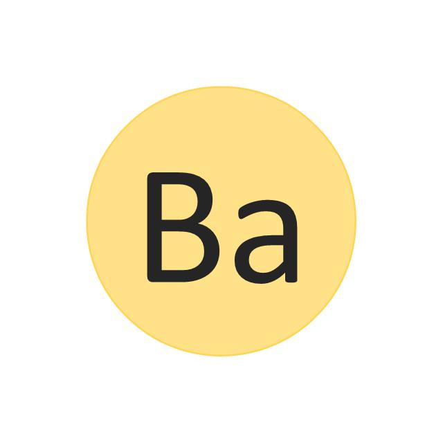 Barium (Ba), barium, Ba,