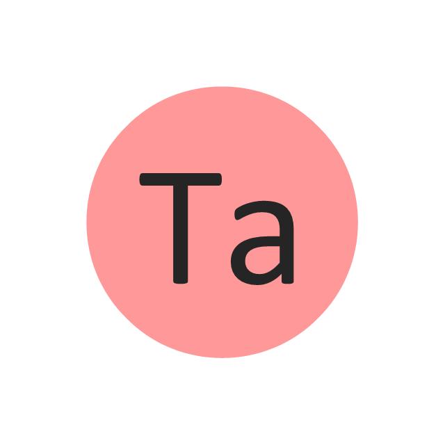 Tantalum (Ta), tantalum, Ta,