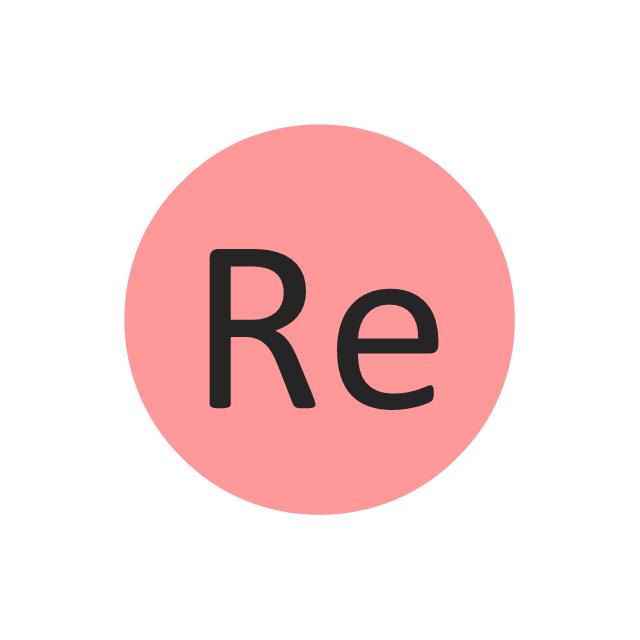 Rhenium (Re), rhenium, Re,