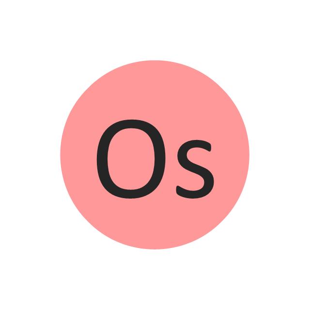 Osmium (Os), osmium, Os,