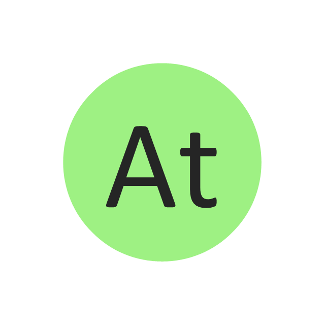 Astatine (At), astatine, At,