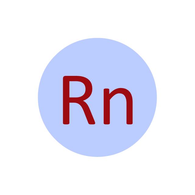 Radon (Rn), radon, Rn,