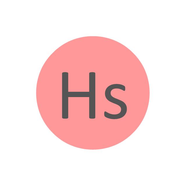 Hassium (Hs), hassium, Hs,