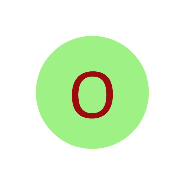 Oxygen (O), oxygen, O,
