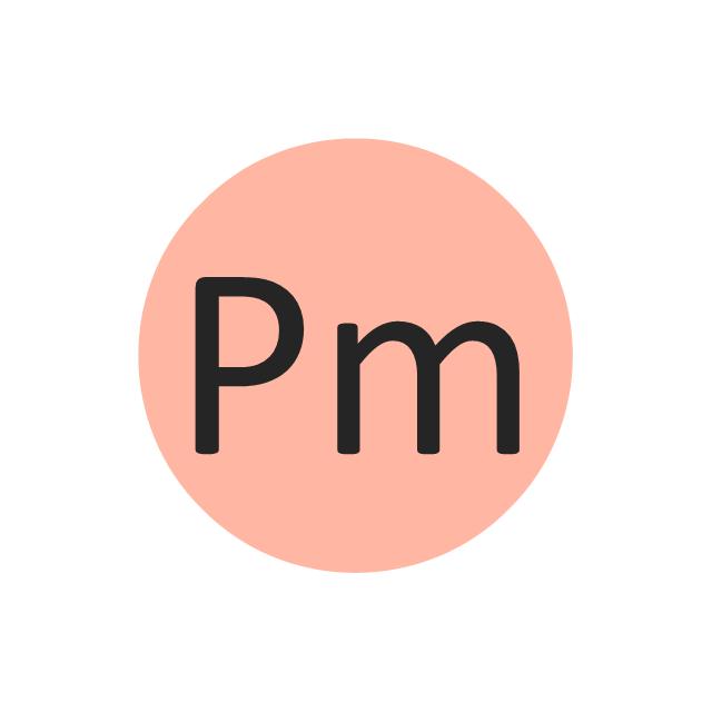 Promethium (Pm), promethium, Pm,
