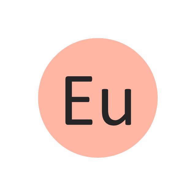 Europium (Eu), europium, Eu,