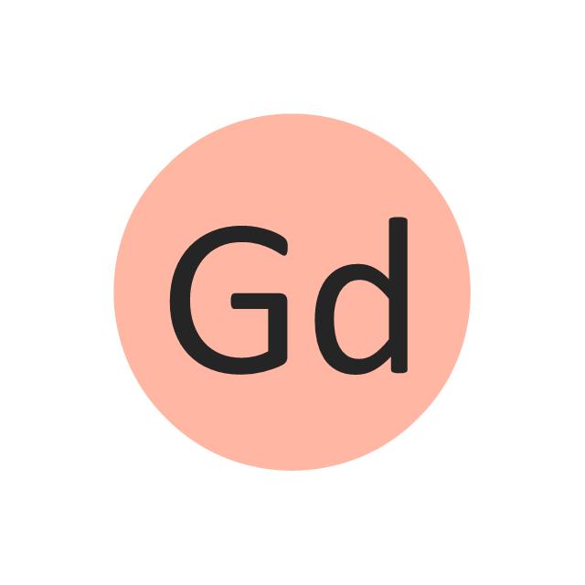 Gadolinium (Gd), gadolinium, Gd,