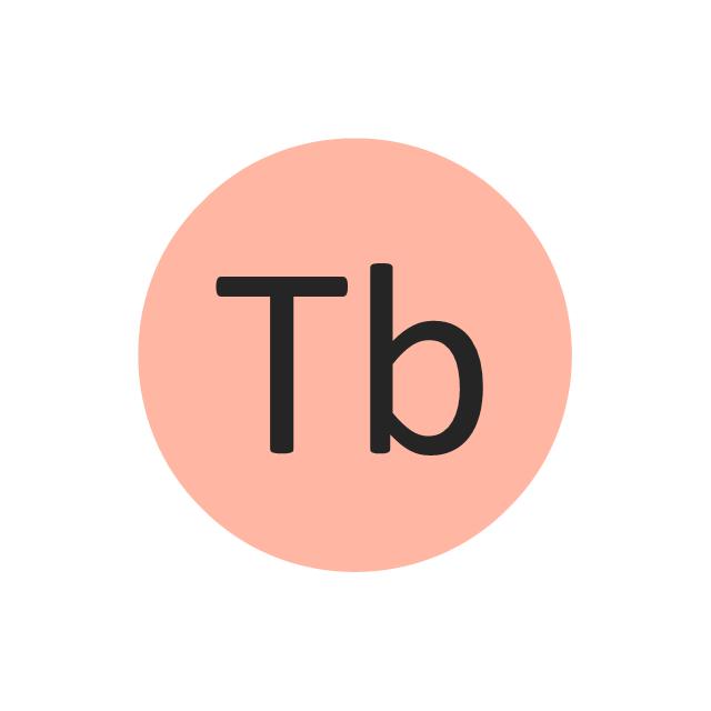 Terbium (Tb), terbium, Tb,