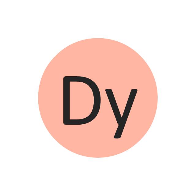 Dysprosium (Dy), dysprosium, Dy,