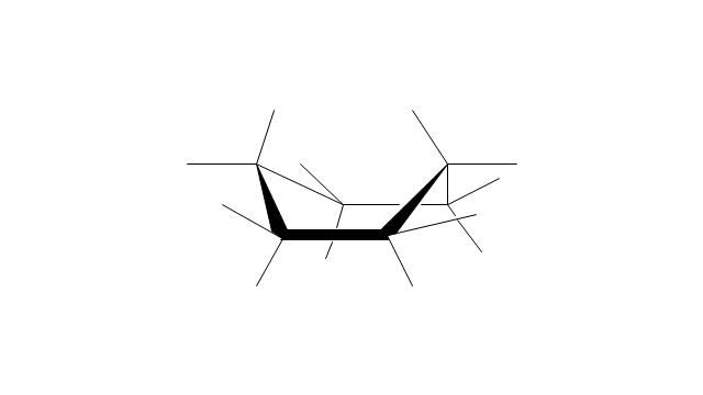 Cyclohexane: boat conformation, cyclohexane, boat conformation,
