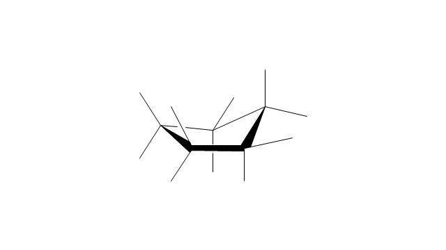 Cyclopentane: envelope conformation, cyclopentane, envelope conformation,