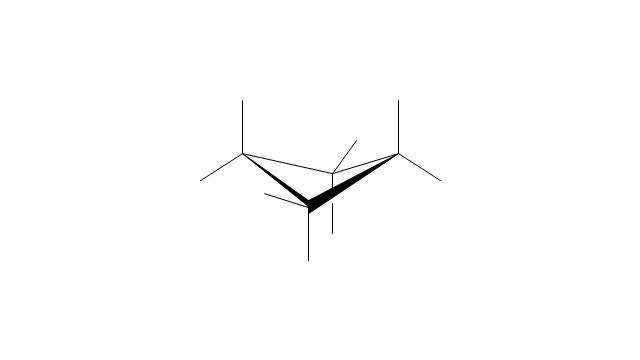 Cyclobutane: saddle conformation, cyclobutane, saddle conformation,