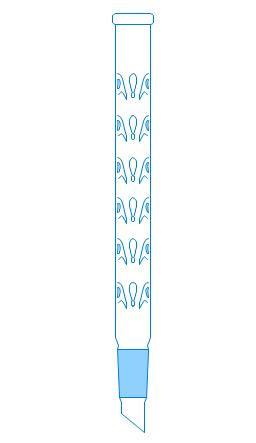 Vigreux distillation column, Vigreux column, distillation column, fractionating column, fractionation column,