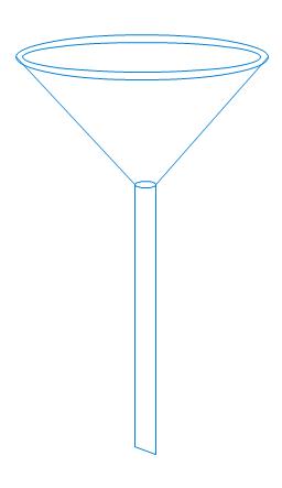 Stemmed funnel, stemmed funnel,