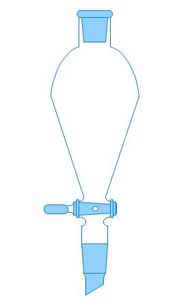 Separatory funnel, separatory funnel, separation funnel, separating funnel, sep funnel,
