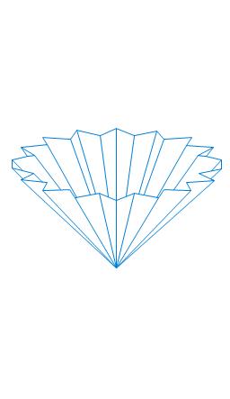 Folded filter paper, filter paper,