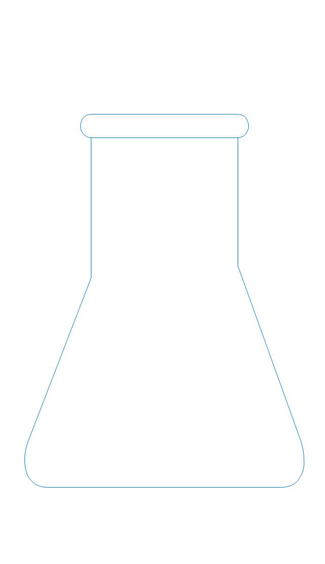 Erlenmeyer flask, 25ml, Erlenmeyer flask,