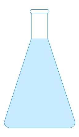 Erlenmeyer flask 250ml, filled, Erlenmeyer flask, conical flask,