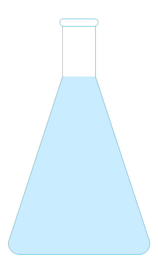Erlenmeyer flask 250ml, filled, Erlenmeyer flask, conical flask,