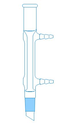 Liebig condenser (short), short condenser, condenser, Liebig condenser, water-cooled,
