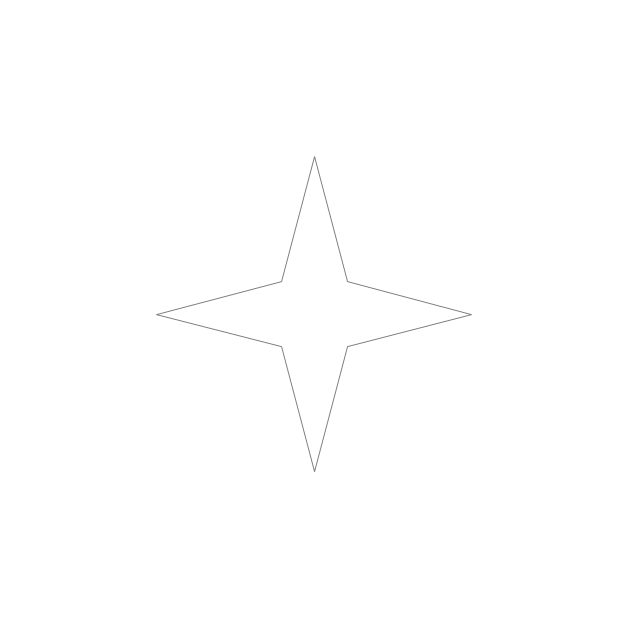 Four-pointed star, star,