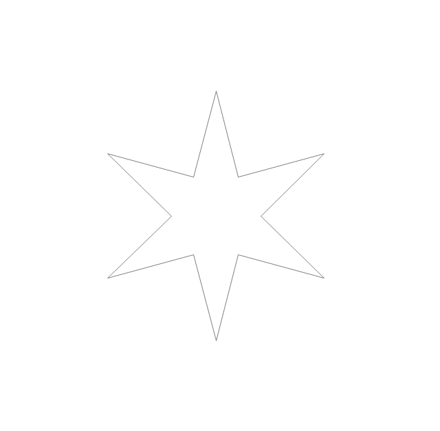 Six-pointed star, star,