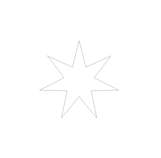 Seven-pointed star, star,