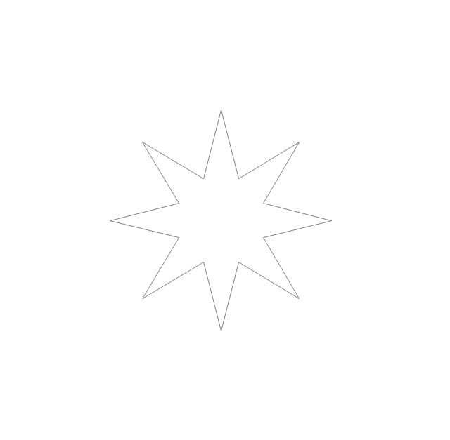 Eight-pointed star, star,
