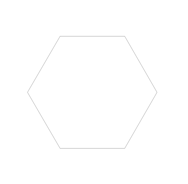 Regular hexagon, hexagon,