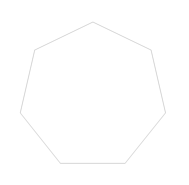 Regular heptagon, heptagon,