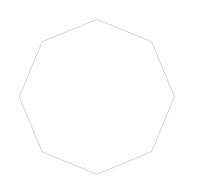 Regular octagon, octagon,