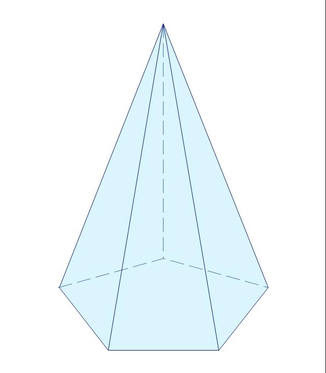 Pentagonal pyramid, pentagonal cone,