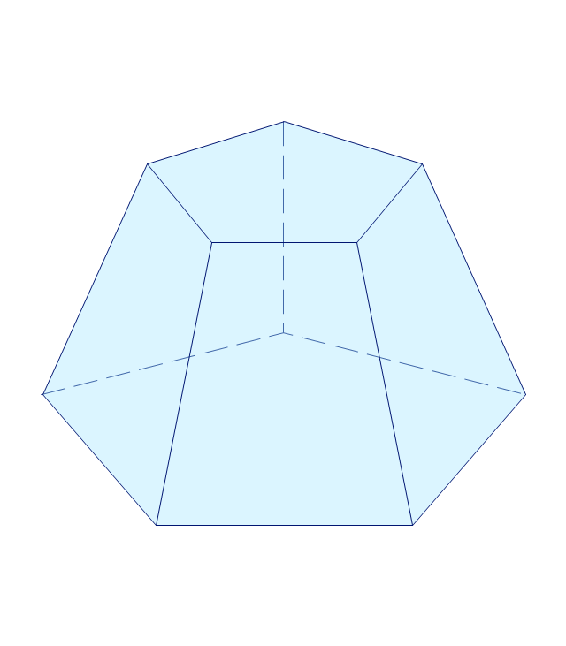 How to draw geometric shapes in conceptdraw pro solid geometry pentagonal frustum ccuart Images