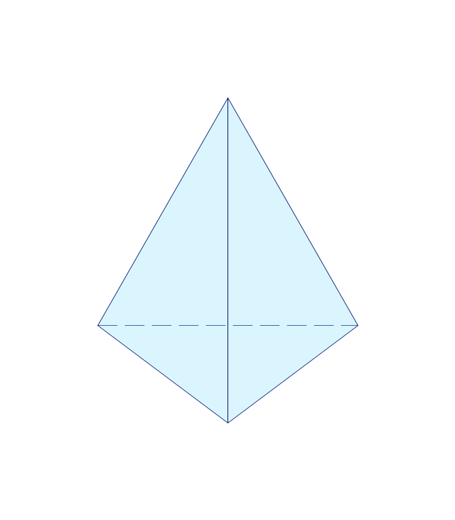 How to draw geometric shapes in conceptdraw pro solid geometry tetrahedron pyramid ccuart Images
