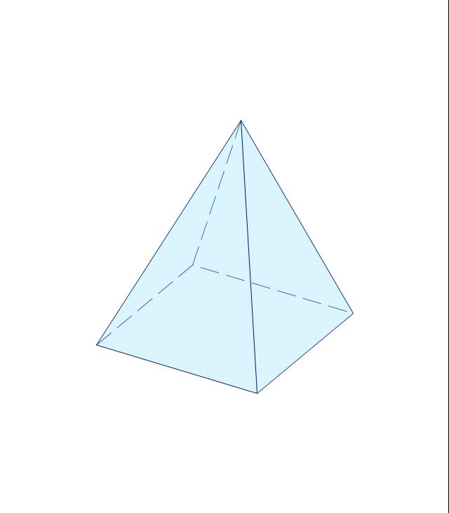 Square pyramid, pyramid,